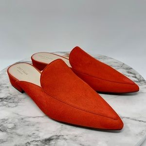 Cole Haan Piper mule fiery suede 9 altered* orange